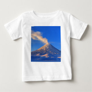 Kamchatka active Klyuchevskoy Volcano at sunrise Baby T-Shirt