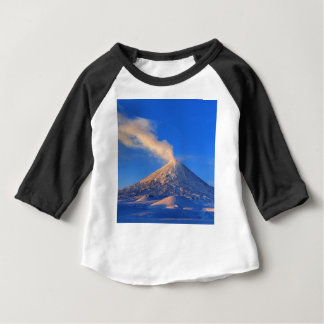 Kamchatka active Klyuchevskoy Volcano at sunrise Baby T-Shirt