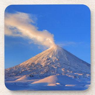 Kamchatka active Klyuchevskoy Volcano at sunrise Coaster