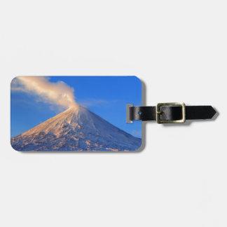 Kamchatka active Klyuchevskoy Volcano at sunrise Luggage Tag