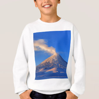 Kamchatka active Klyuchevskoy Volcano at sunrise Sweatshirt