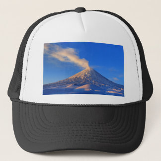 Kamchatka active Klyuchevskoy Volcano at sunrise Trucker Hat
