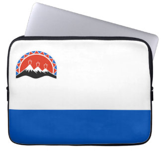 kamchatka flag russia country republic region laptop computer sleeve