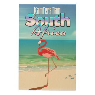 Kamfers Dam South African travel poster