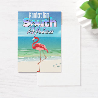 Kamfers Dam South African travel poster Business Card