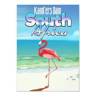 Kamfers Dam South African travel poster Card