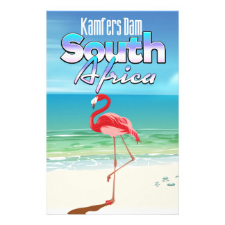 Kamfers Dam South African travel poster Stationery