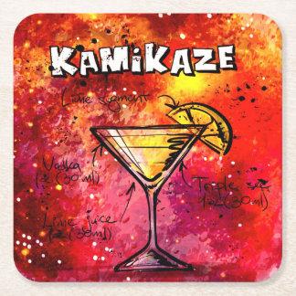 Kamikaze Bartender Drink Recipe Square Paper Coaster