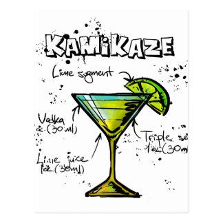 Kamikaze Cocktail Recipe Postcard