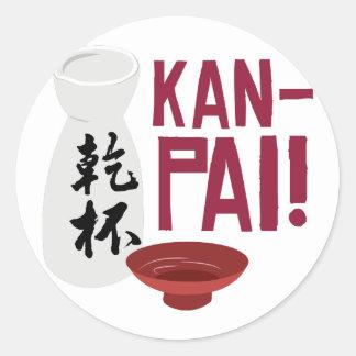 Kan-Pai Classic Round Sticker