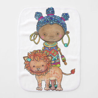 Kana the African princess Burp Cloth