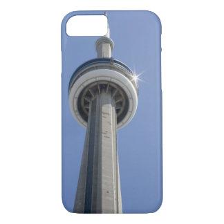 Kanada, Ontario, Toronto. Spitze von KN-Turm mit iPhone 7 Case