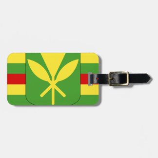 Kanaka Maoli Flag - Hawaiian Independence Flag Luggage Tag