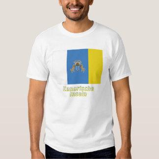 Kanarische Inseln Flagge mit Namen Shirt