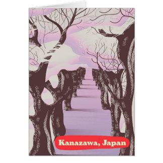 Kanazawa, Japan Blossom Card