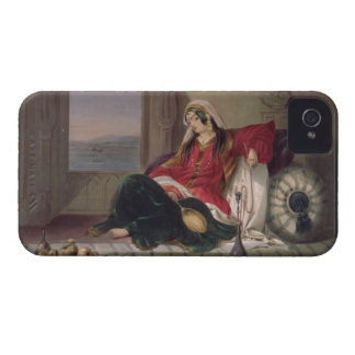 Kandahar Lady of Rank, Engaged in Smoking, plate 2 iPhone 4 Case-Mate Case