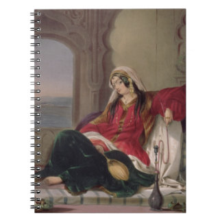 Kandahar Lady of Rank, Engaged in Smoking, plate 2 Spiral Notebook