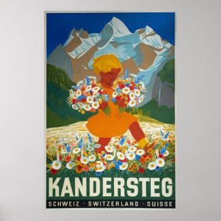 Kandersteg,Switzerland, Travel Poster