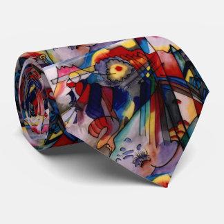 Kandinsky 1913 Abstract Painting Tie
