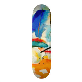 Kandinsky 1913 Sea Battle/pixdezines Skate Boards