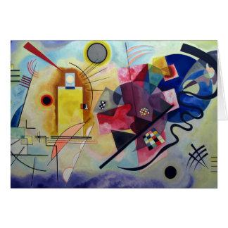 Kandinsky 1925/yellow/red/blue/pixdezines greeting cards