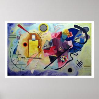 Kandinsky 1925/yellow/red/blue/pixdezines poster
