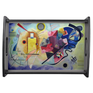 Kandinsky 1925/yellow/red/blue/pixdezines serving tray