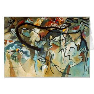 kandinsky abract art greeting card