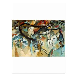 kandinsky abract art post card