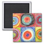 Kandinsky Abstract art Square Magnet