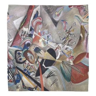 Kandinsky Abstract Painting In Grey Bandana