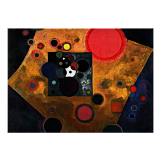 Kandinsky - Accent on Rose Poster
