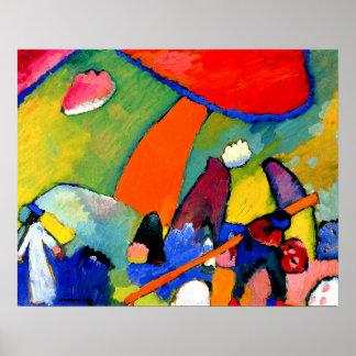 Kandinsky - Beach Scene Poster