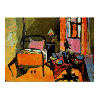 Kandinsky - Bedroom in Aintmillerstrasse Poster
