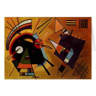 Kandinsky Black and Violet Note Card