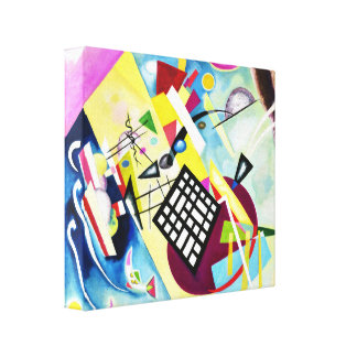 Kandinsky Black Grid Canvas Print