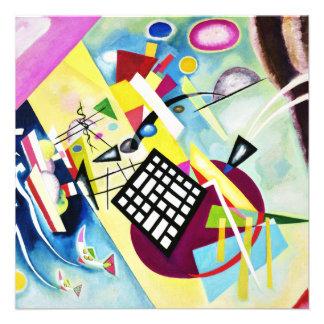 Kandinsky Black Grid Invitations