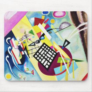 Kandinsky Black Grid Mouse Pad