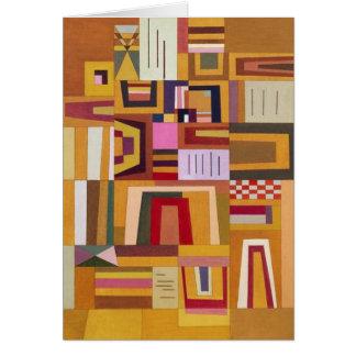 Kandinsky Compensation Rose Greeting Card