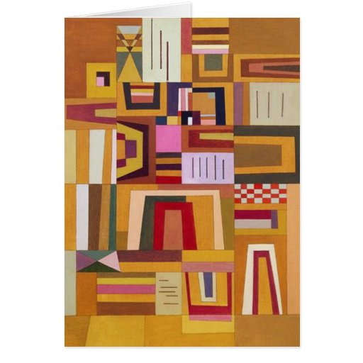 Kandinsky Compensation Rose Note Card