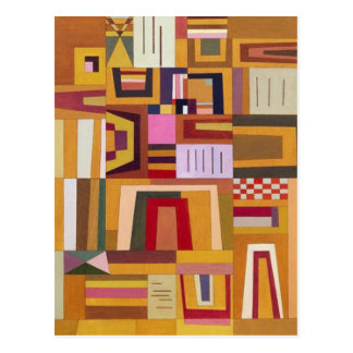 Kandinsky Compensation Rose Postcard