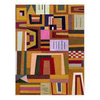 Kandinsky - Compensation Rose Postcard