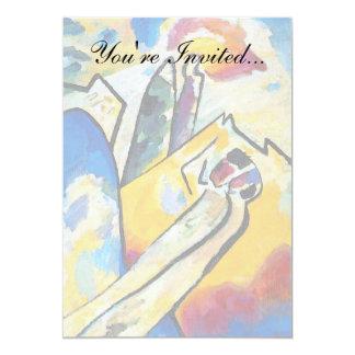 Kandinsky Composition Four 13 Cm X 18 Cm Invitation Card
