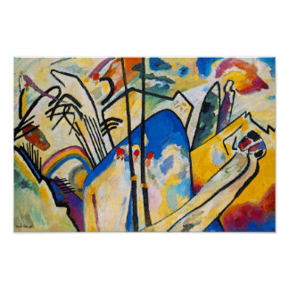 Kandinsky Composition Four Poster