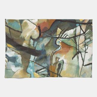 Kandinsky Composition V Abstract Painting Tea Towel