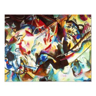 "Kandinsky Composition VI Invitations 4.25"" X 5.5"" Invitation Card"
