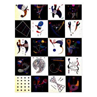 Kandinsky creative artwork, 4x5=20 postcard