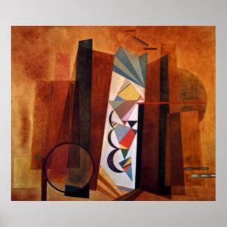 Kandinsky Development in Brown Abstract Artwork Poster