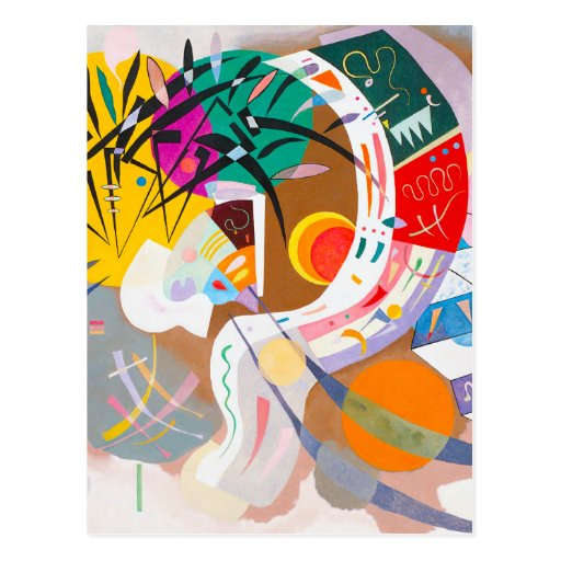 Kandinsky Dominant Curve Postcard