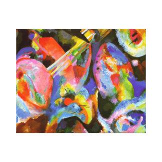 Kandinsky - Flood Improvisation, Deluge Canvas Print